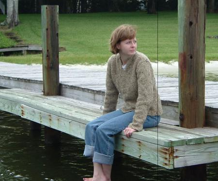 me on the pier in my new sewater