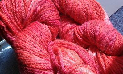 very red yarn