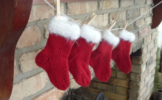 four little stockings