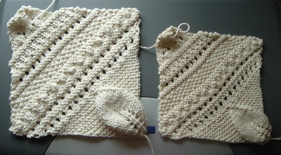 two beadspread squares