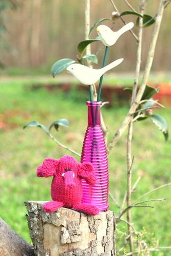 hot pink elephant
