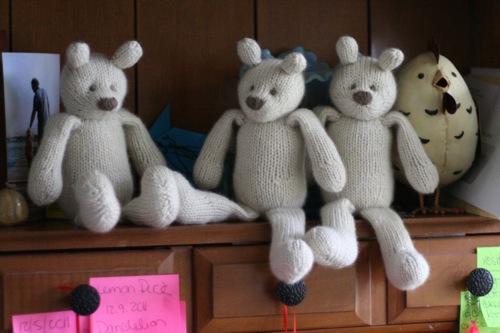three cashmere bears