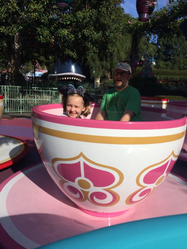 The Tea Cups at Disneyland