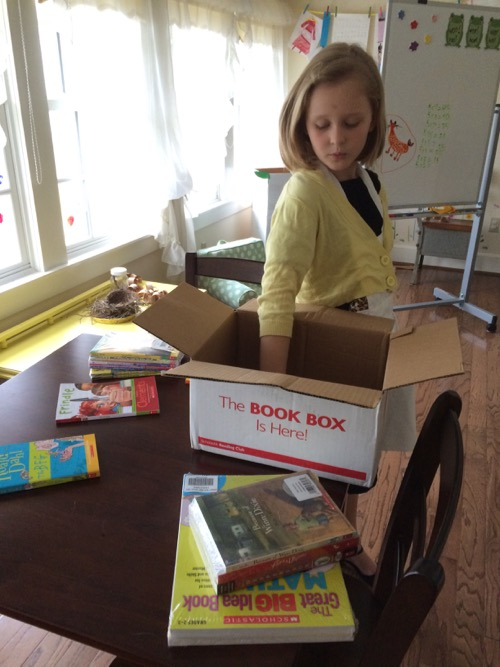 unpacking the scholastic book box